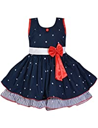Wish Karo Baby Girls Cotton Frock Dress for Girls Dress - Cotton - (ctn054)