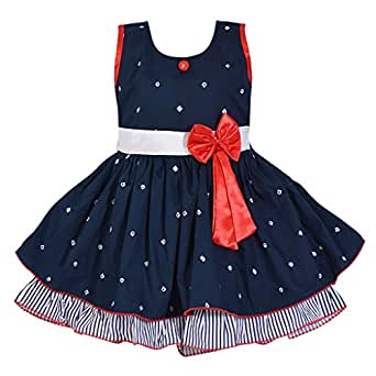 8be8aa178ccd Wish Karo Baby Girls Frock Dress - Cotton - (ctn054nb)  Amazon.in ...