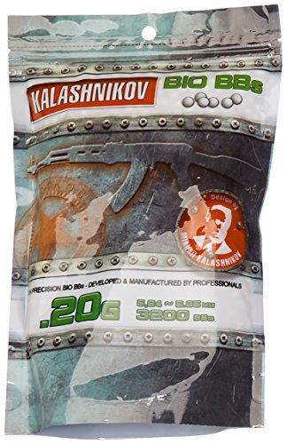 KALASHNIKOV Billes biodégradable Sac de 3200 BB's 0,20 g