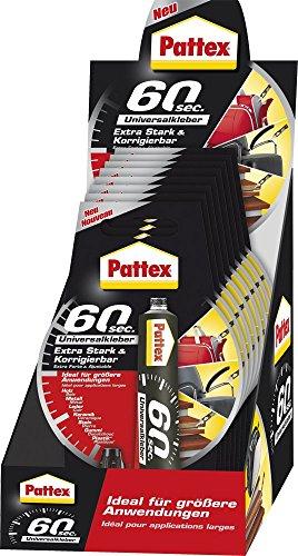 Pattex puk6 K Écran 60 secondes de colle universelle dans la pratique Transparent
