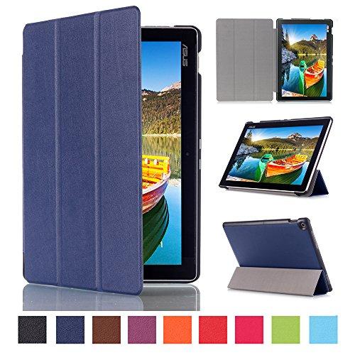 Skytar Asus ZenPad 10 Z300C Etui,Folio Case Cover Stand Pochette PU Cuir étui Coque pour ASUS ZenPad 10 Z300C,Z300M,Z300CG,Z300CL,Z301M,Z301ML,Z301MF,Z301MFL (10,1 Pouces) Tablette Housse,Bleu marine