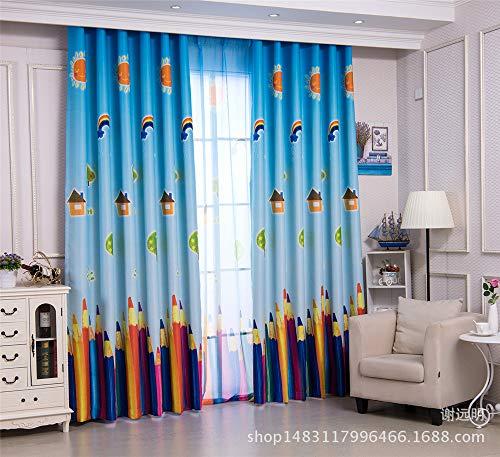 Zgzcurtain tende da finestra finestra della camera da letto della camera dei bambini con matita stampata di stoffa nera le tendedimensioni personalizzate (per metro)