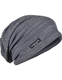 c4126cb2411 ZS s B018 Distressed Stripe Slouch Beanie Skull Cap for Summer (Gray)