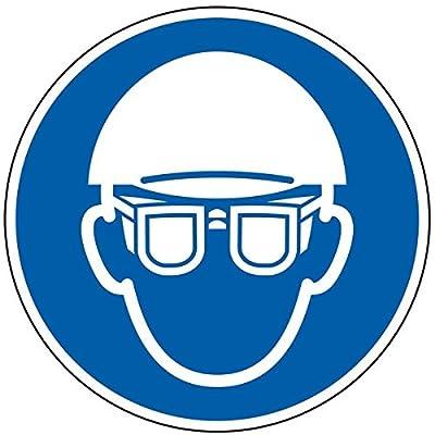 LEMAX® Gebotsschild Kopf- und Augenschutz benutzen,praxisb.,Folie,selbstklebend,Ø 100mm