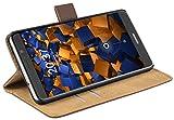 mumbi Ledertasche im Bookstyle für Huawei Mate 9 Tasche braun