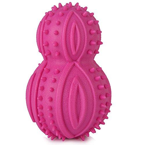 Artikelbild: Petacc Hundespielzeug Ball Kauspielzeug Spielzeug Langlebiger Hundespielball Hundespielzeug aus Naturkautschuk Welpenspielzeug mit Zahnpflege-Funktion Kauspielzeug für kleine Hunde, (Farbe ist gelegentlich)