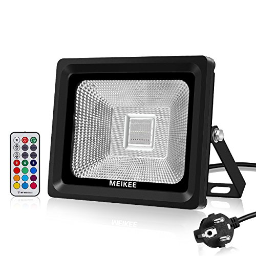 Foco LED RGB 30w IP66 con mando
