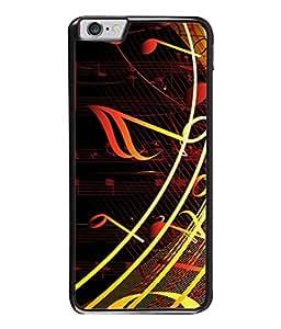 PrintVisa Designer Back Case Cover for Apple iPhone 6 (Solid fancy party black golden maroon)