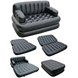 Piyuda 5 In 1 Inflatable Sofa Air Bed Couch With Electric Pump (Air Sofa)