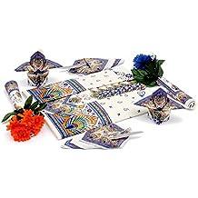 Mantel Impresión romagnola Pavona con o sin servilletas