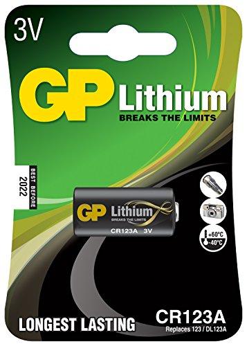 Preisvergleich Produktbild Lithium Fotozelle, CR123A, 3V, verpackt 1 pro Blister - 16,8 x 34,5 mm