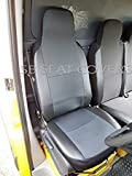 to fit a Iveco Daily 2004, coprisedili per furgoni, antracite nero similpelle Trim (1singolo + 1letto matrimoniale)