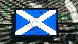 En relief Écosse Drapeau Airsoft Morale Patch en PVC