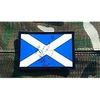 Realzado PVC parche Bandera de Escocia Airsoft