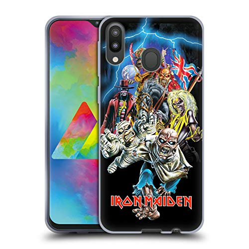 Head Case Designs Offizielle Iron Maiden Best of Beast Kunst Soft Gel Hülle für Samsung Galaxy M20 (2019) (Iron Maiden Kunst)