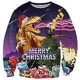 Loveternal Unisex Christmas Jumper Pärchen Pullover Weihnachten Cool Xmas Sweater Team Partnerlook Langarm 3D Entwurf Langarm T-Shirt XL