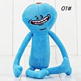 Soft Plush Morty and Rick Doll,Wyurhjh® 25CM Light Blue Amusing Stuffed Meeseeks Doll Xmas Toys Socking Filler (Happy)