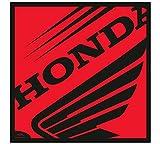 Teppich Gummi Anti-rutsch Für Motorrad Oder Roller Mit Grafik Honda Da 50x50cm - Rojo
