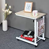 AGECC Lazy Computertisch Moderner entfernbarer Nachttisch, der Kleine Tee-Tabelle, Faule Tabellen-Computer-Tabelle, C, 6 weiße Ahorn-Farbe anhebt