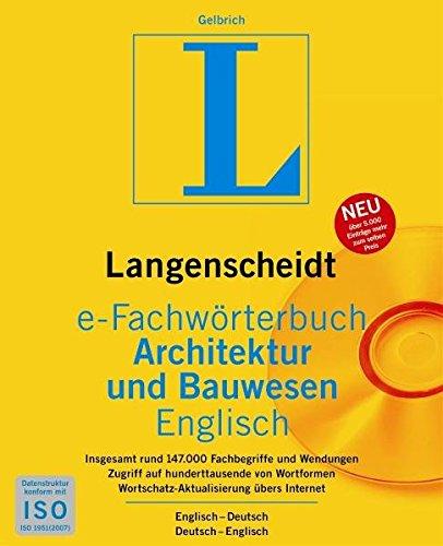 Langenscheidt e-Fachwörterbuch Architektur und Bauwesen Englisch