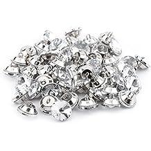 50Pcs Rhinestone Botones Cristales Con Metal Loop ,Ronda Botones Para Coser Sofa Upholstery ,Botón DIY Artesanías Decoración ( tamaño : 25mm )