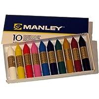 Ceras Manley 10 Colores 6cm =000330=