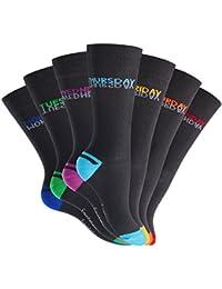 7 Paar modische Socken für Sie und Ihn von EVERYDAY! BLACKLINE - In verschiedenen Farben und Mustern - Größen 35-46 wählbar - Qualität von celodoro