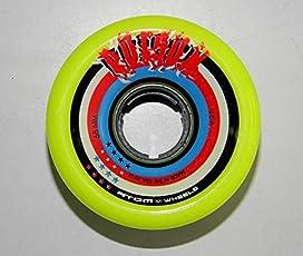Atom Wheels Poison Skating Wheels(Quads) Set Of Eight. Unisex Skating Wheel 65 Mm (Yellow)