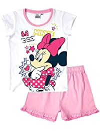 Disney Minnie Chicas Pijama mangas cortas - Blanco