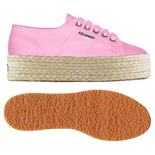 Superga 2790-COTROPEW PINK BEGONIA Womens Platform Wedge Schuhe Sneaker