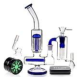 REANICE(CLEAR C) Glass bong schüssel höhe 31cm 18.8mm direkt glas rohre honigwabe zweig bongwasser bohrinseln pfeife großen bongs glas mit zubehör-blau
