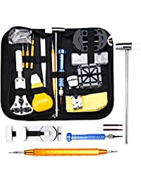 Baban Uhrenwerkzeug Set 147tlg Uhrmacherwerkzeug Uhr Werkzeug Tasche Reparatur Watch Tools in schwarze Nylontasche Upgrade-Version