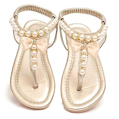 Enfants Filles Chaussures Perlage Noeud Sandales De Plage Mode - 29