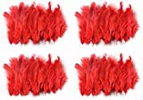 #2: Rooh dream catcher - pack of 4 red colour feathers (40 x 4)