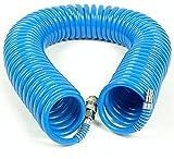 Druckluftschlauch Spiralschlauch Luftschlauch 5x8mm 10m 15m 20m Länge flexibel (15m)