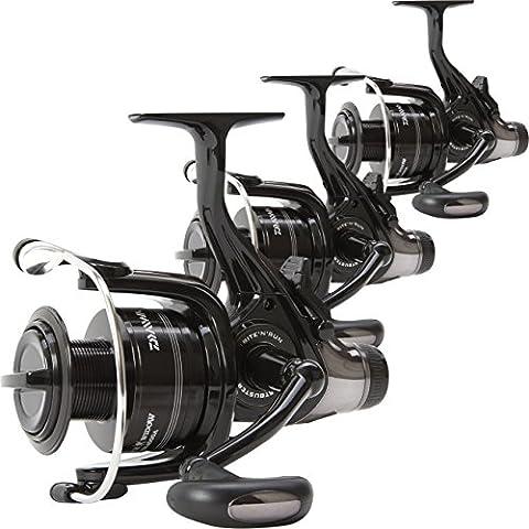 Daiwa Black Widow 4500 BR Front Drag Lightweight Set of 3 Carp Fishing Reels
