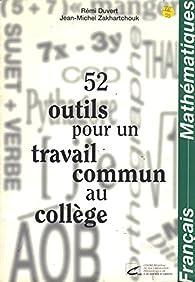 Frs maths si outils pour le travail par  Zakhartchouk Jean-Michel Duvert Rémi