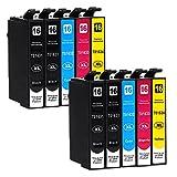 10 Druckerpatronen kompatibel zu Epson 16 16-XL passend für Epson Workforce WF-2010 WF-2510 WF-2520 WF-2530 WF-2540 WF-2630 WF-2650 WF-2660 WF-2750 WF-2760 Test