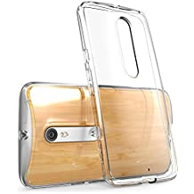 Motorola Moto X Style / Pure Edition (2015 Release) Case, i-Blason Scratch Resistant [Halo Series] Clear Case / Cover / Carcasa / Caja / Funda (Clear)
