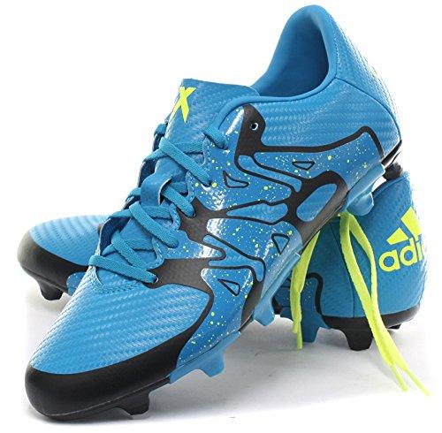 adidas Chaos FG/AG Unisex-Kinder Fußballschuhe Solblu/Syello/Cblack