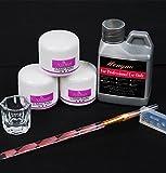 ZEZKT-Beauty Nailart Acryl Set Nagel-Kunst-Installationssätze Acryl-flüssige Puder-Feder Acryl Flüssigkeit Dappenteller-Werkzeug-Satz  3 Profi Acryl Puder + 1 Acryl Liquid Flüßigkeit + 1 Acryl- Pinsel