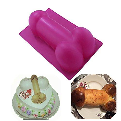 Große Form Silicone Cake Bread Pastry Mold für Geburtstags-einzelne Party Witzige Lustige Backform Handgemachte DIY Mousse Schokoladen Kuchen, Rosa