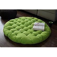 Store Indya, Cojin de suelo de jardin losa Mat Almohadilla del asiento de la sala de estar con relleno de algodon suave terciopelo tejida a mano para los ninos