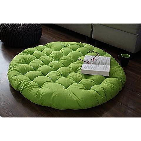 Store Indya, Cojin de suelo de jardin losa Mat Almohadilla del asiento de la sala de estar con relleno de algodon suave terciopelo tejida a mano para los