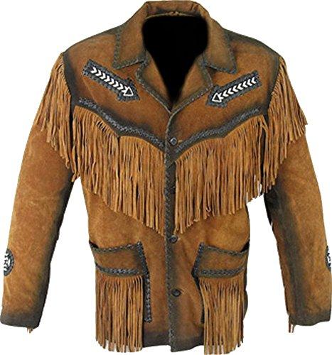 Classyak Hombres Chaqueta De Flecos Western Cowboy de la Parte Superior Calidad