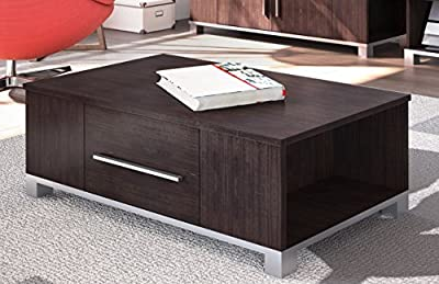 Coffee Table Walnut 1 Drawer Occasional Reception Table Silver Handles York - inexpensive UK coffee table shop.