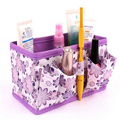 Fulltime® Maquillage cosmétique Boîte de rangement Sac Organisateur Pliable Papeterie Container