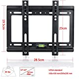 Lumsing®  Slim Low Profile 14-42 inch Corner LCD LED Plasma Flat Screen Monitor TV Wall Mount Bracket MAX Vesa 200*200mm(black, 14-42 Inches Tv Display)
