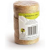 OfficeTree® - Cuerda para manualidades, rollo de 100 m, de yute, producto natural de alta calidad para el hogar, jardinería, artesanía y decoración (1 rollo)
