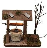 Brunnen Ziehbrunnen beleuchtet für Krippe Weihnachtskrippe Krippenstall Krippenzubehör